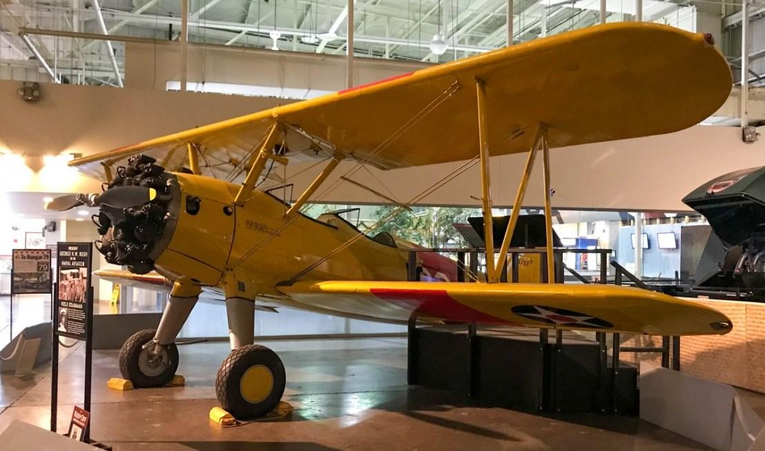 N2S-3 Stearman Kaydet Single Engine Flight Trainer Biplane