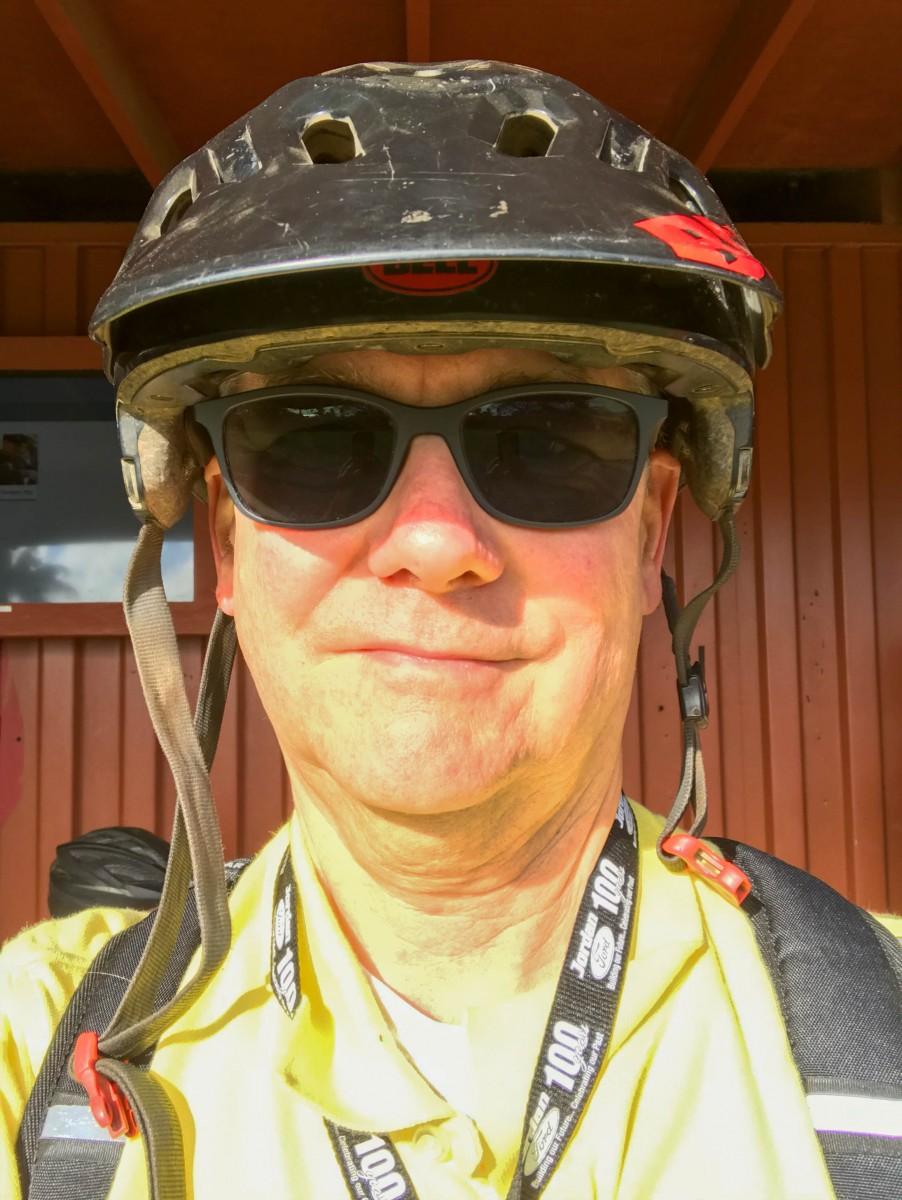 Larry Wearing Helmet