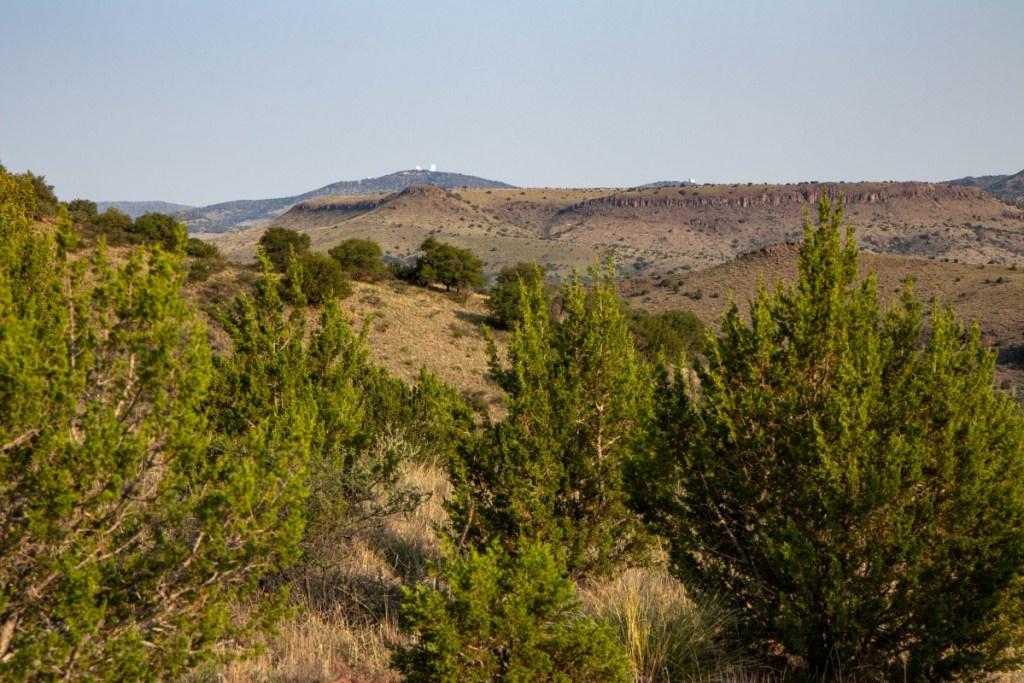 McDonald Observatory Telescopes On Far Mountain Tops