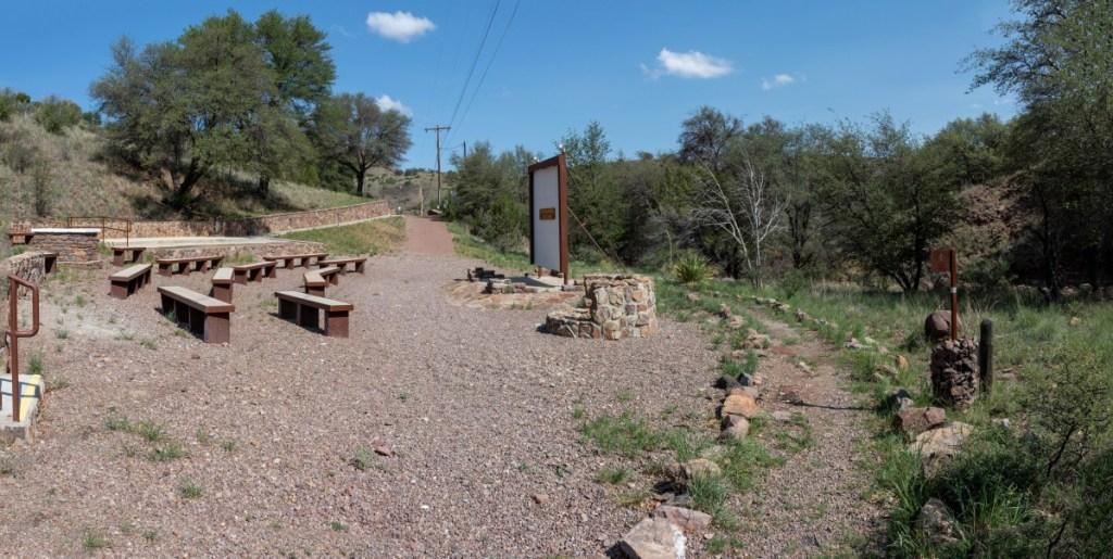 Amphitheater On Left, Trail On Right