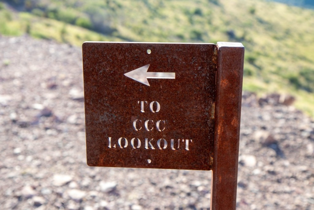 Sign Pointing To CCC Lookout/Overlook At The End Of Skyline Drive