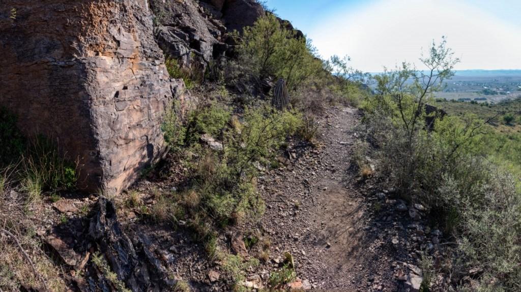 Trail Section Traversing Mountain