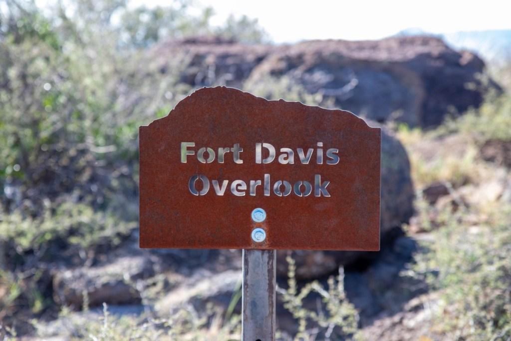 Fort Davis Overlook Sign