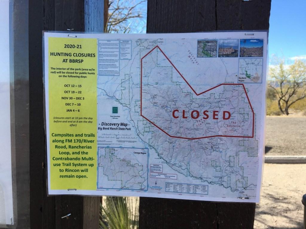 Hunting Closures At BBRSP