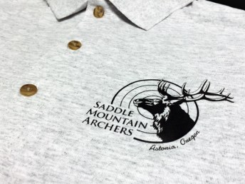 Custom screenprinted logo on polo