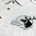 Custom screenprinted logo on polo