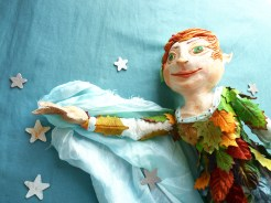 Paperclay Peter Pan art doll by The Free Folk