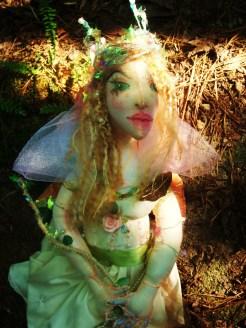 cloth fairy queen art doll by The Free Folk