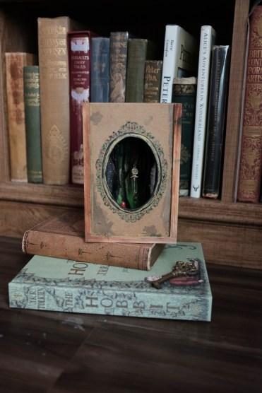 magical fairytale art piece in a diorama box