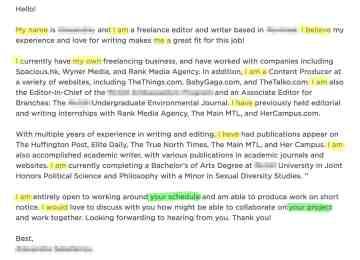 Freelance Copywriter Cover Letter | Marketing Copywriter Cover ...