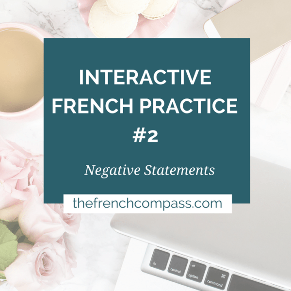 Interactive French Practice #2 | Negative Statements