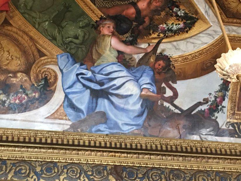 A ceiling painting at Château de Vaux-le-Vicomte (Charles Le Brun?).