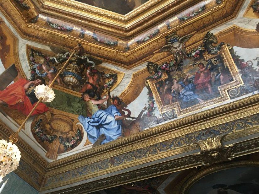 Detail of a ceiling painting at Château de Vaux-le-Vicomte (Charles Le Brun?).