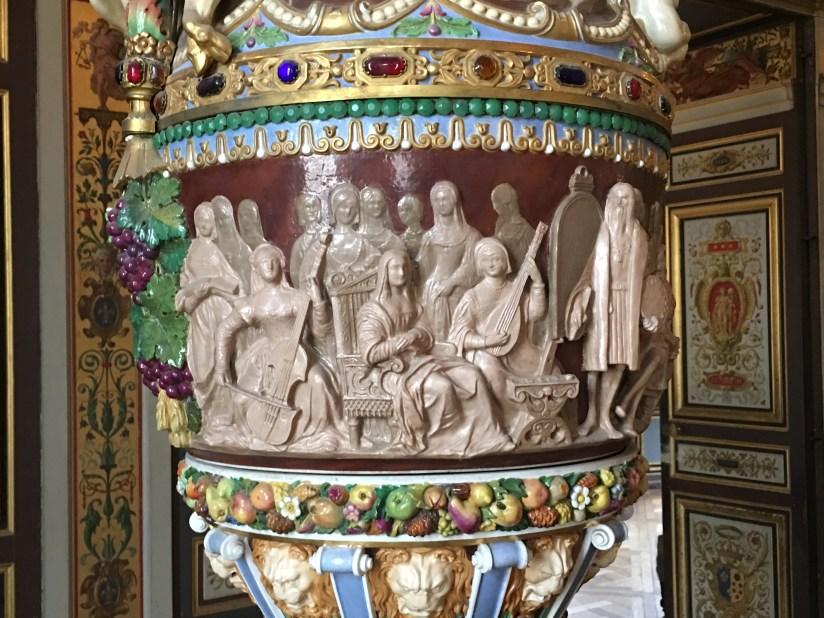 Detail of Renaissance vase in the Château de Fontainebleau.