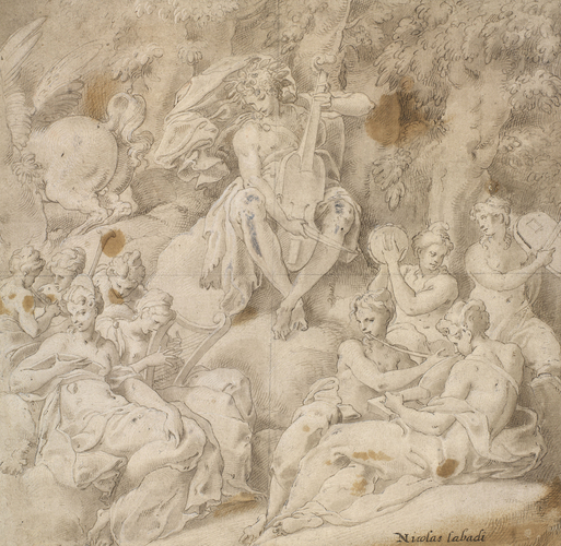 Niccolò dell'Abate, Apollo surrounded by the Muses.