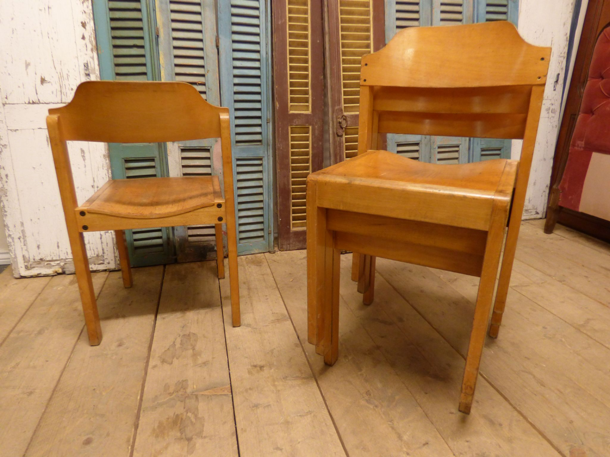 Vintage School Chairs Vintage French School Chairs Check For Availability