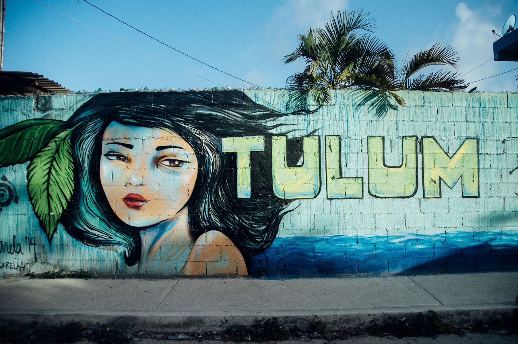 Tulum street art blog voyages