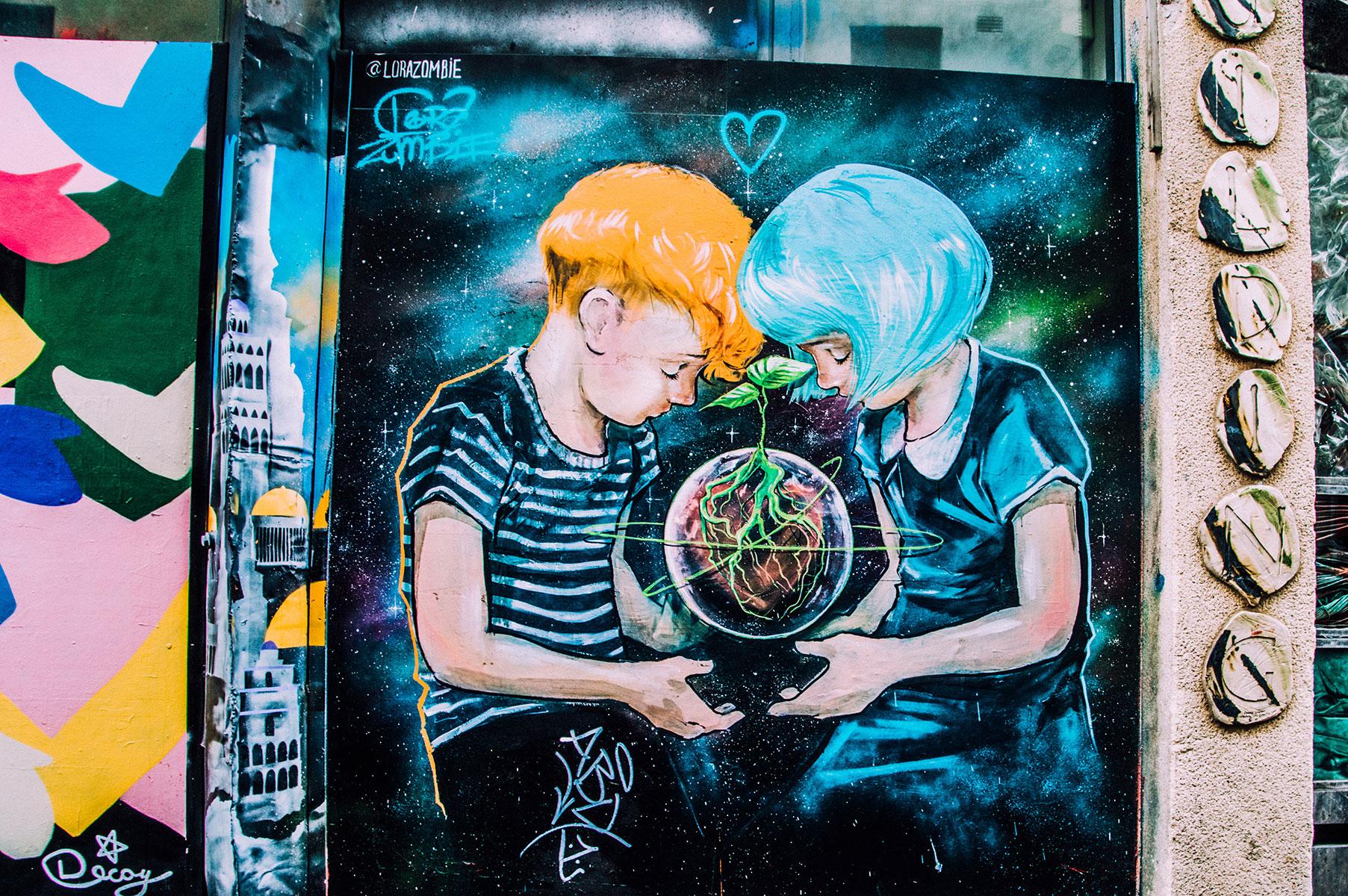 Street art temple bar dublin'