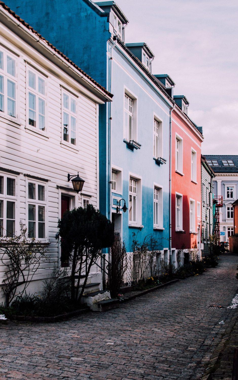 Rues bergen Norvège