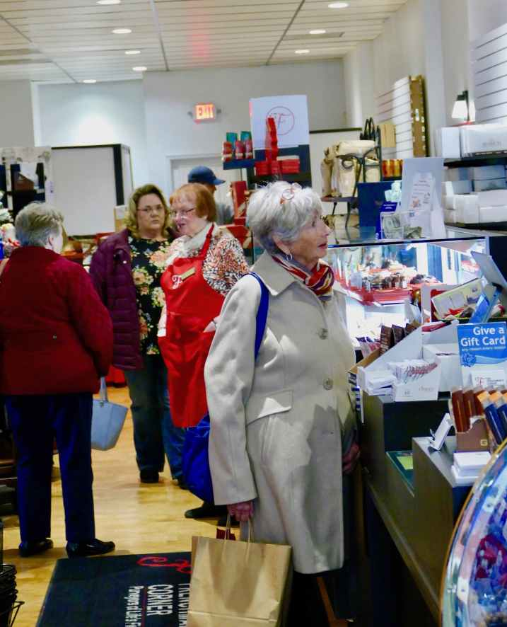 More people shopping