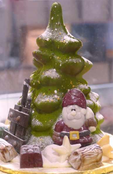 Santa and tree