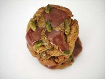 Cookies pistache vus du dessus