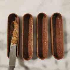 montage de la tartelette choco-noisette : le praliné