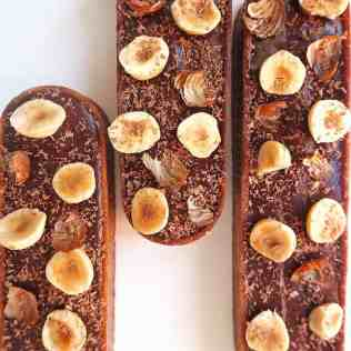 tarte choconuts vue de dessus