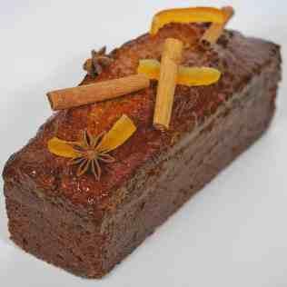 pain d'épices nappé et décoré