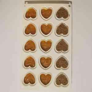Biscuit coco sur confit passion pour insert coeur