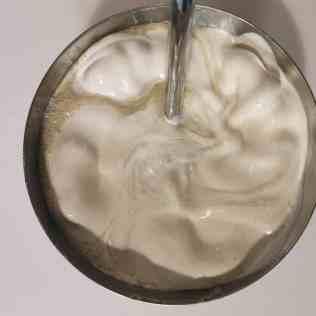 ganache montée vanille mixée