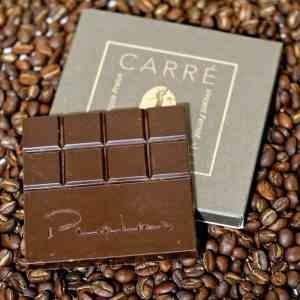 carré de café noir Pralus