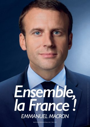 Macron's poster for the second round