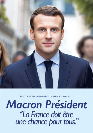 Macron's poster for the first round