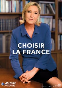Le Pen's poster for the second round