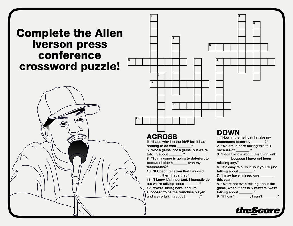 Allen Iverson Crossword
