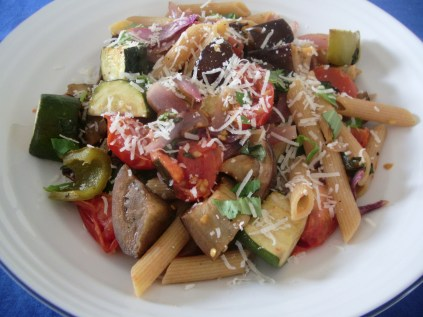 Roasted vegetable pasta_7