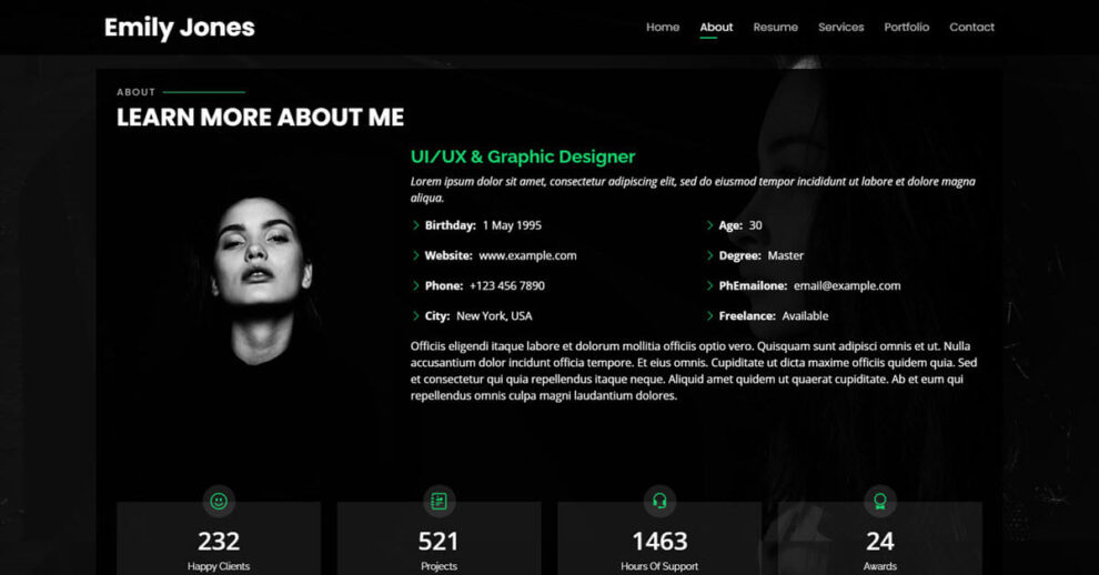 Univers view this free template ». 10 Best Free Bootstrap Personal Website Templates Thefreshthemes