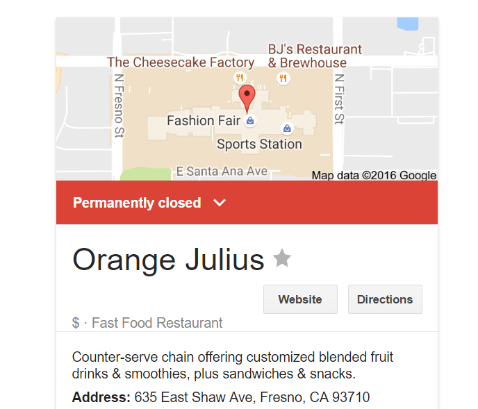 fresno fashion fair orange julius Google Search