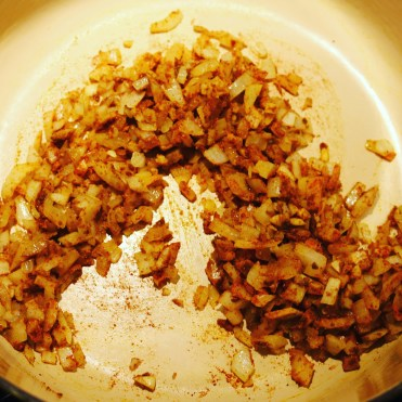 The onion and spice mixture