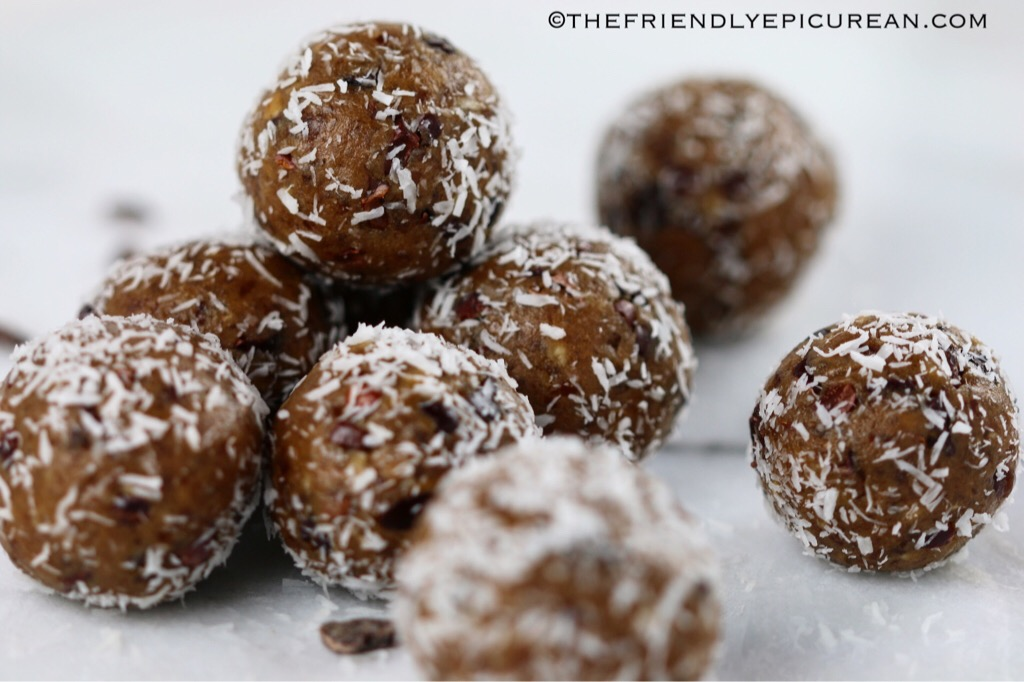 Peanut Butter Cacao Nib Protein Bites (vegan, gluten free)