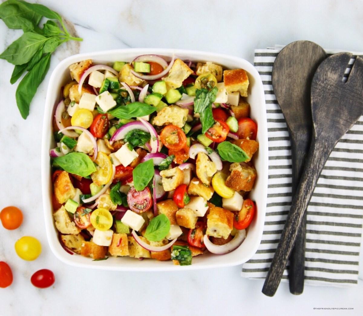 Vegan PanzanellaSalad