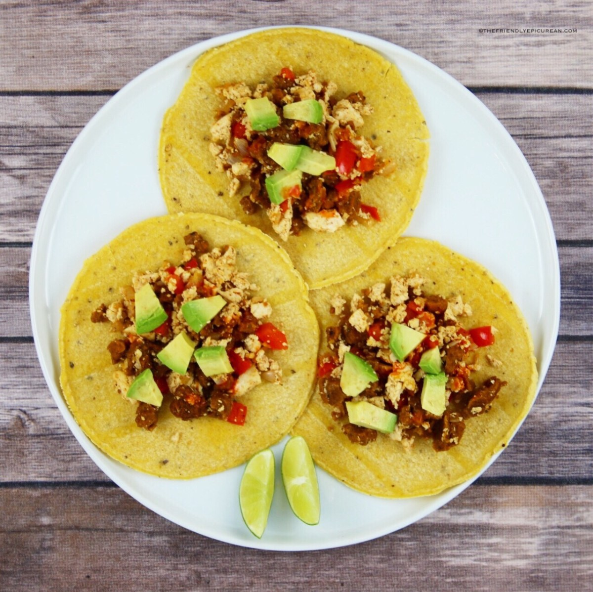Tofu Chorizo Breakfast Tacos