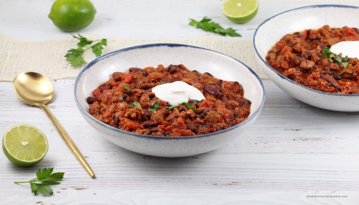 Three Bean Vegan Chili