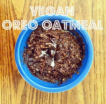 Vegan Oreo Oatmeal Recipe