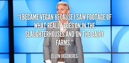 Vegan Celebrities Ellen Degeneres