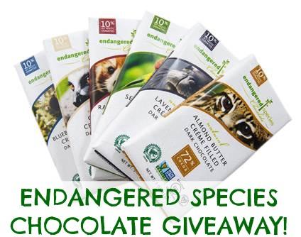 Endangered Species Chocolate Giveaway