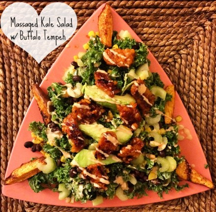 Buffalo Kale Salad Vegan Recipe