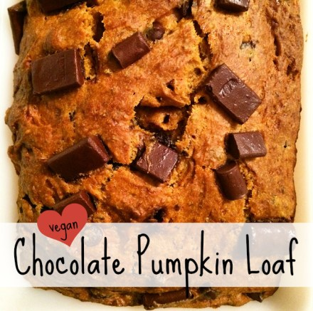 Vegan Chocolate Chip Pumpkin Bread Recipe