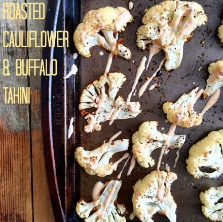 Roasted Cauliflower Buffalo Tahini